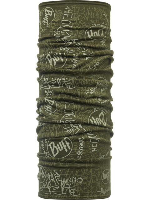 Buff Wool Halsbedekking groen